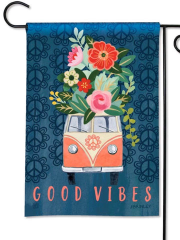 32125 Good Vibes Garden Flag (Flag Stand Sold Separately)