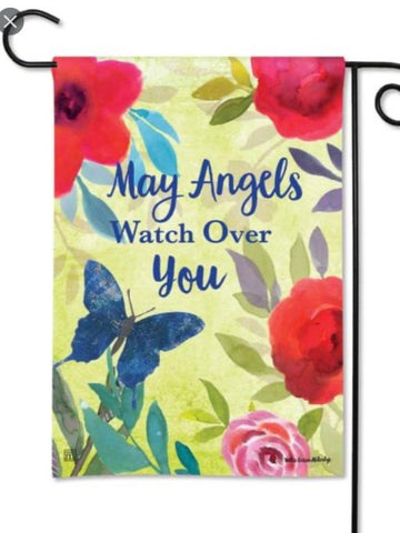 31737 Angels Keep Watch Garden Flag (Flag Stand Sold Separately)