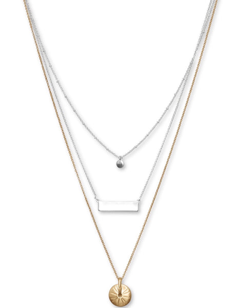 JWEL4099 760 TWO TONE NECKLACE