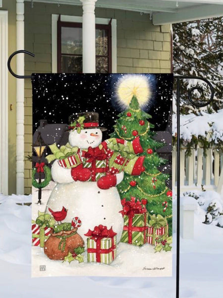 Hometown Snowman Garden Flag (Flag Stand Sold Separately)
