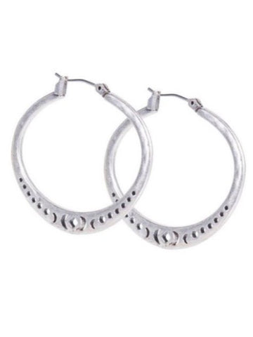 JLRY4900 040 Silver Openwork Hoop Earrings