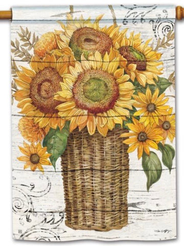 Farmhouse Sunflower Standard Flag (Flag Pole Sold Separately)