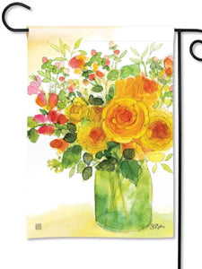 Yellow Roses Garden Flag (Flag Stand Sold Separately)