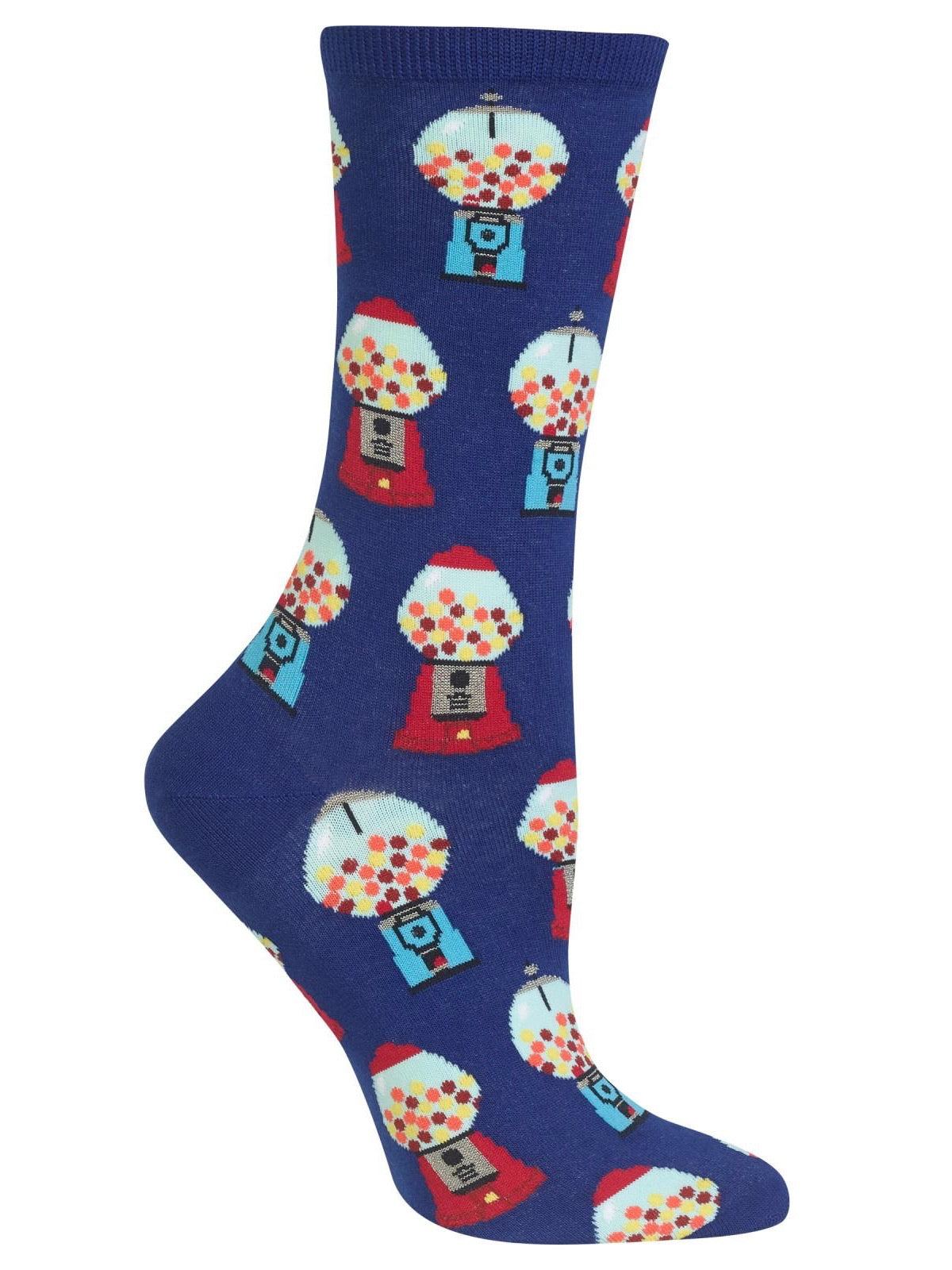 Women's Gumball Machine Crew Socks Dark Blue