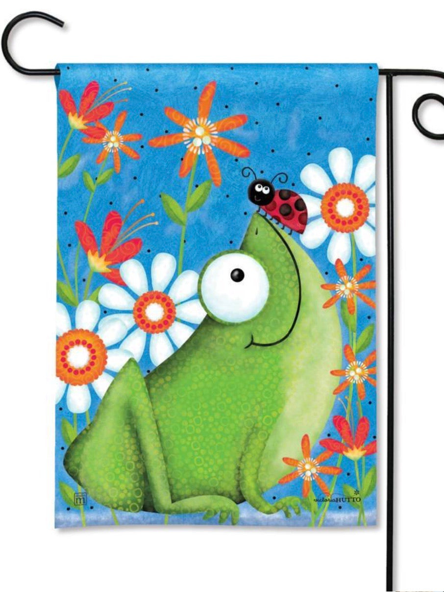 Frog Fun Garden Flag (Flag Stand Sold Separately)