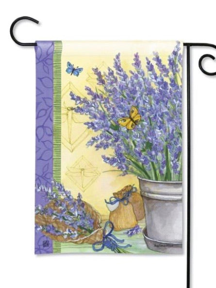 Lavender Garden Flag (Flag Stand Sold Separately)