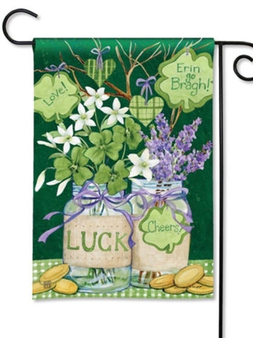 Lucky Shamrocks Garden Flag (Flag Stand Sold Separately)