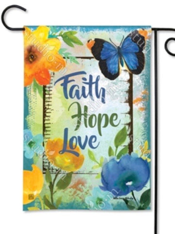 31741 Have Faith Hope Garden Flag (Flag Stand Sold Separately)