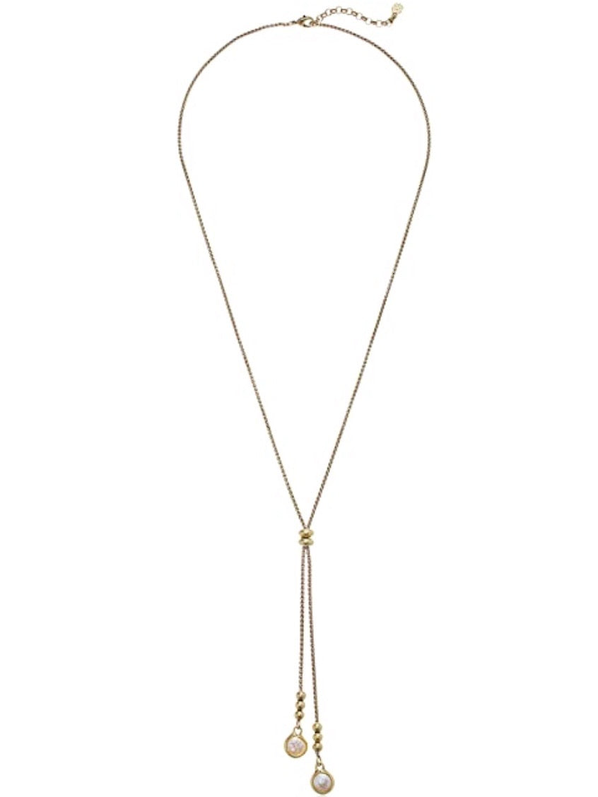 JLRY7772 710 Pearl Lariet Necklace