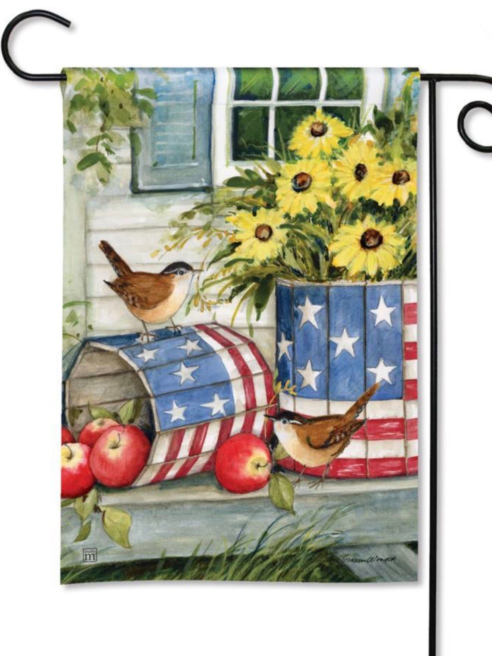Patriotic Planters Garden Flag (Flag Stand Sold Separately)