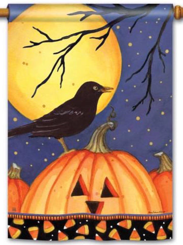 Halloween Crow Standard Flag (Flag Pole Sold Separately)