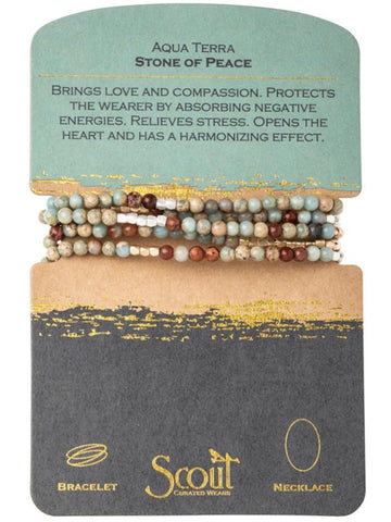 Aqua Terra - Stone of Peace Wrap Bracelet/Necklace