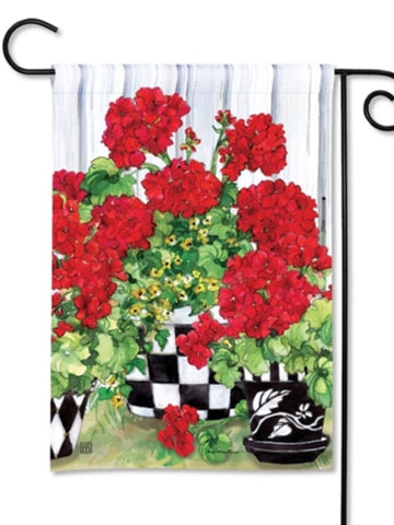 Geranium Flowers Garden Flag (Flag Stand Sold Separately)