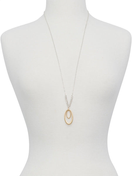 JWEL4268 760 TWO TONE NECKLACE