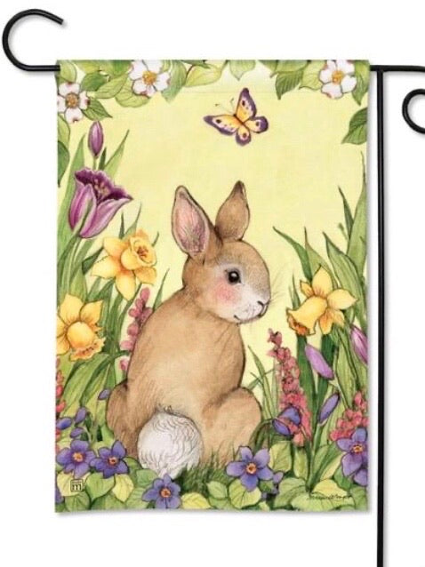 31649 Springtime Bunny Garden Flag (Flag Stand Sold Separately)