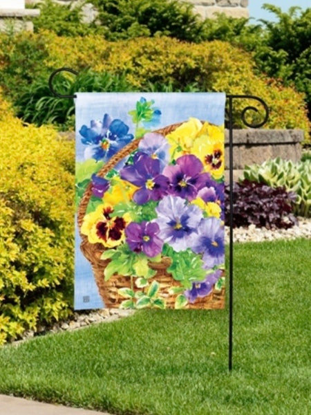 Pansy Blooms Garden Flag (Flag Stand Sold Separately)