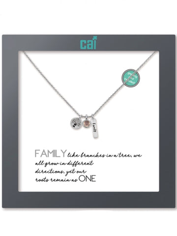 31869 Silver Family as You Wish Necklace
