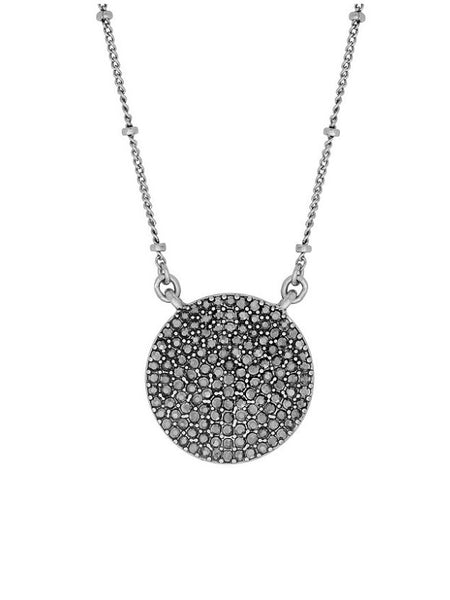 JLRU8787 Silver Pave Necklace