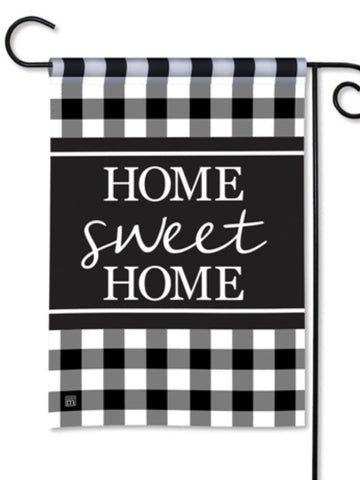 Black And White Check Garden Flag (Flag Stand Sold Separately)