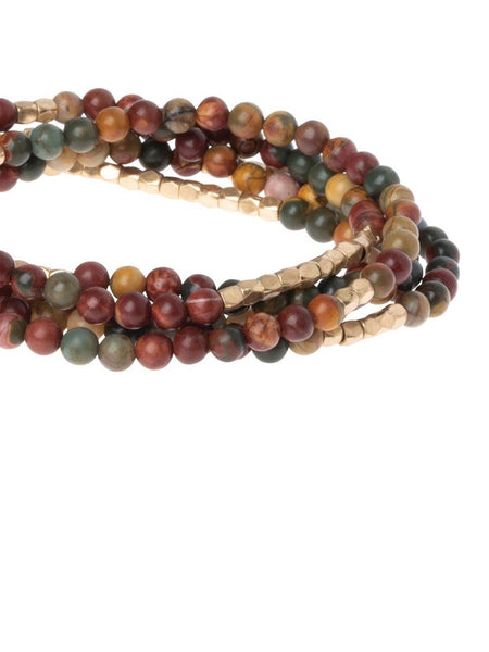 Majestic Jasper - Stone of Serenity Wrap Bracelet / Necklace
