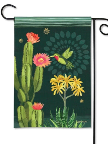 Night Cactus Garden Flag (Flag Stand Sold Separately)