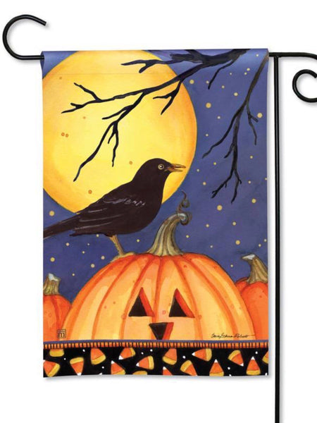 Halloween Crow Garden Flag (Flag Stand Sold Separately)