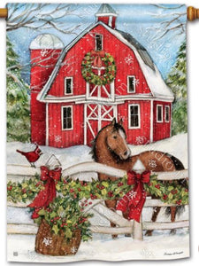 Christmas on the Farm Standard Flag (Flag Pole Sold Separately)