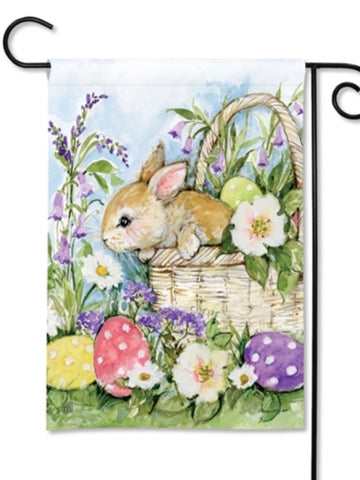 Easter Bunny Basket Garden Flag (Flag Stand Sold Separately)