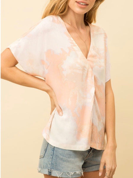 MY131451 Blush Tie Dye Top