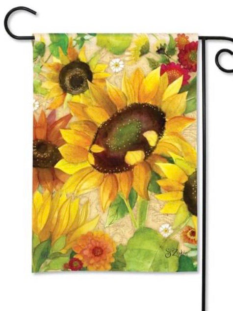 Yellow Sunflower Garden Flag (Flag Stand Sold Separately)