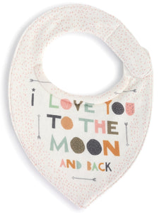 Moon and Back Drool Buster Bib by Zoe Ingram