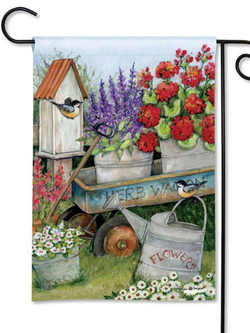 Garden Wagon Garden Flag (Flag Stand Sold Separately)