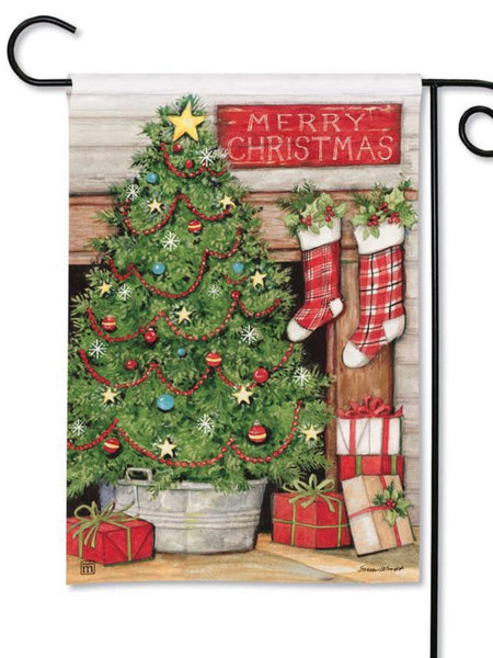 Christmas Tree Garden Flag (Flag Stand Sold Separately)