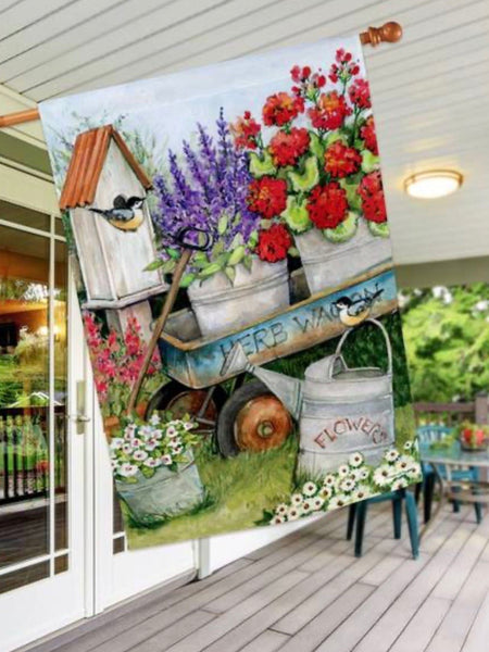 Garden Wagon Standard Flag (Flag Pole Sold Separately)