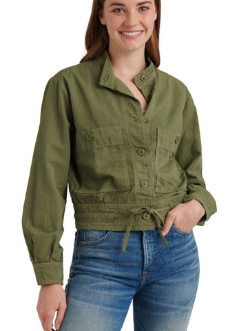 LB7W31342 RMGN Romaine Green Femme Surplus Jacket