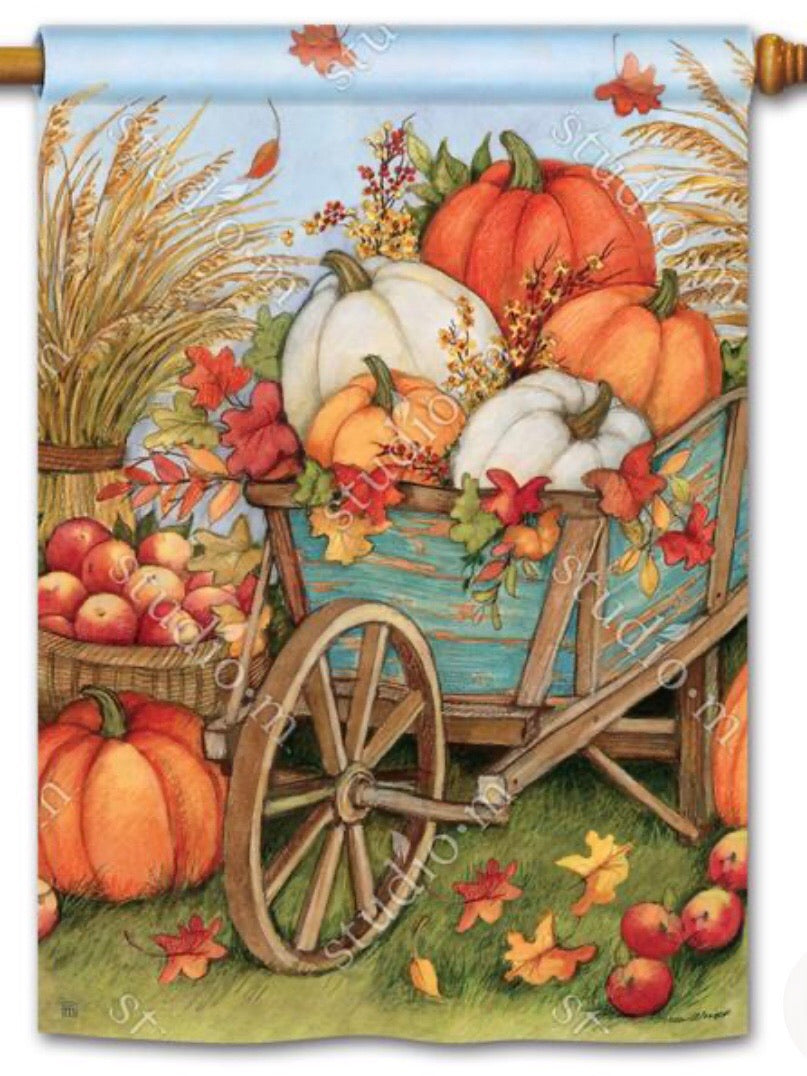 Pumpkin Wagon Standard Flag (Flag Pole Sold Separately)