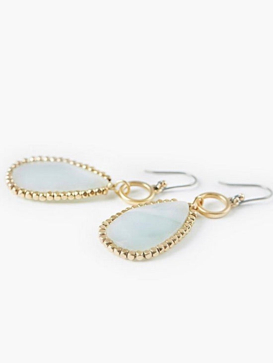 JWEL3721 710 Stone Drop Gold Earrings