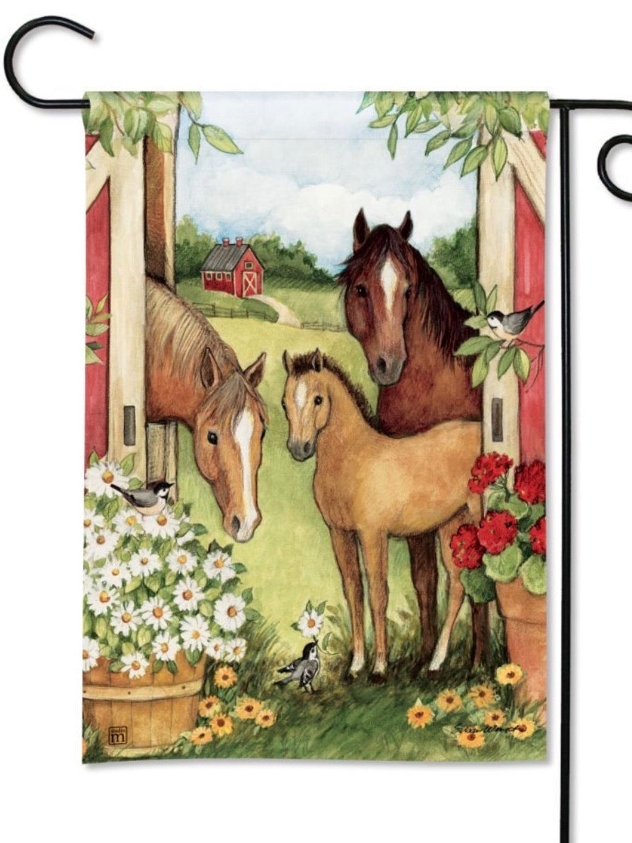 Springtime on the Farm Garden Flag (Flag Stand Sold Separately)