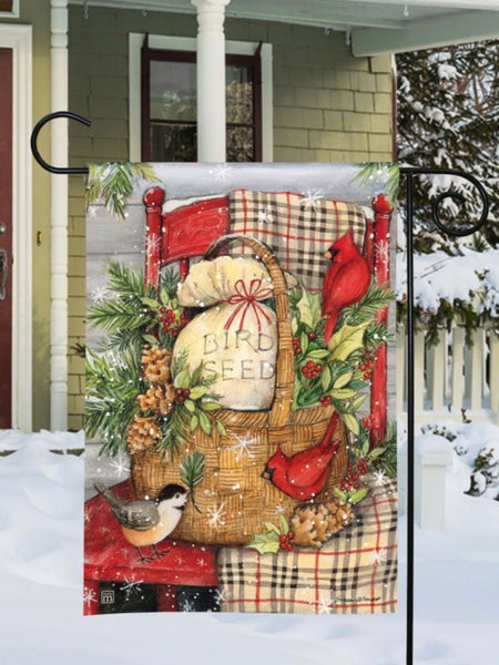 Front Porch Christmas Garden Flag (Flag Stand Sold Separately)