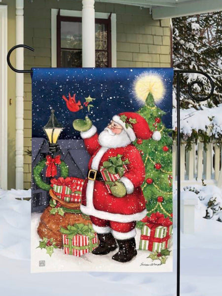 Hometown Santa Garden Flag (Flag Stand Sold Separately)