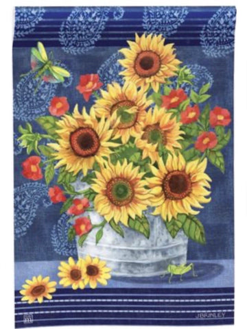 Denim Sunflowers Standard Flag (Flag Pole Sold Separately)