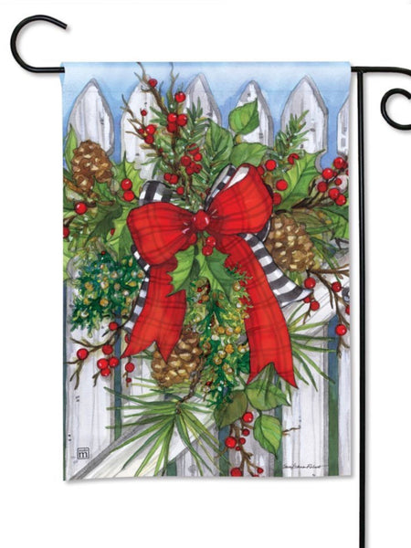 Holiday Garland Garden Flag (Flag Stand Sold Separately)