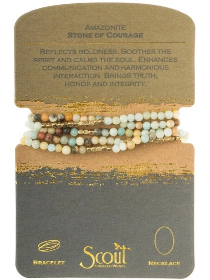 Amazonite - Stone of Courage Wrap Bracelet / Necklace
