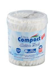 ULTRA COMPACT COTTON BUDS 100'S X 12 PCS - Cotton Fioc