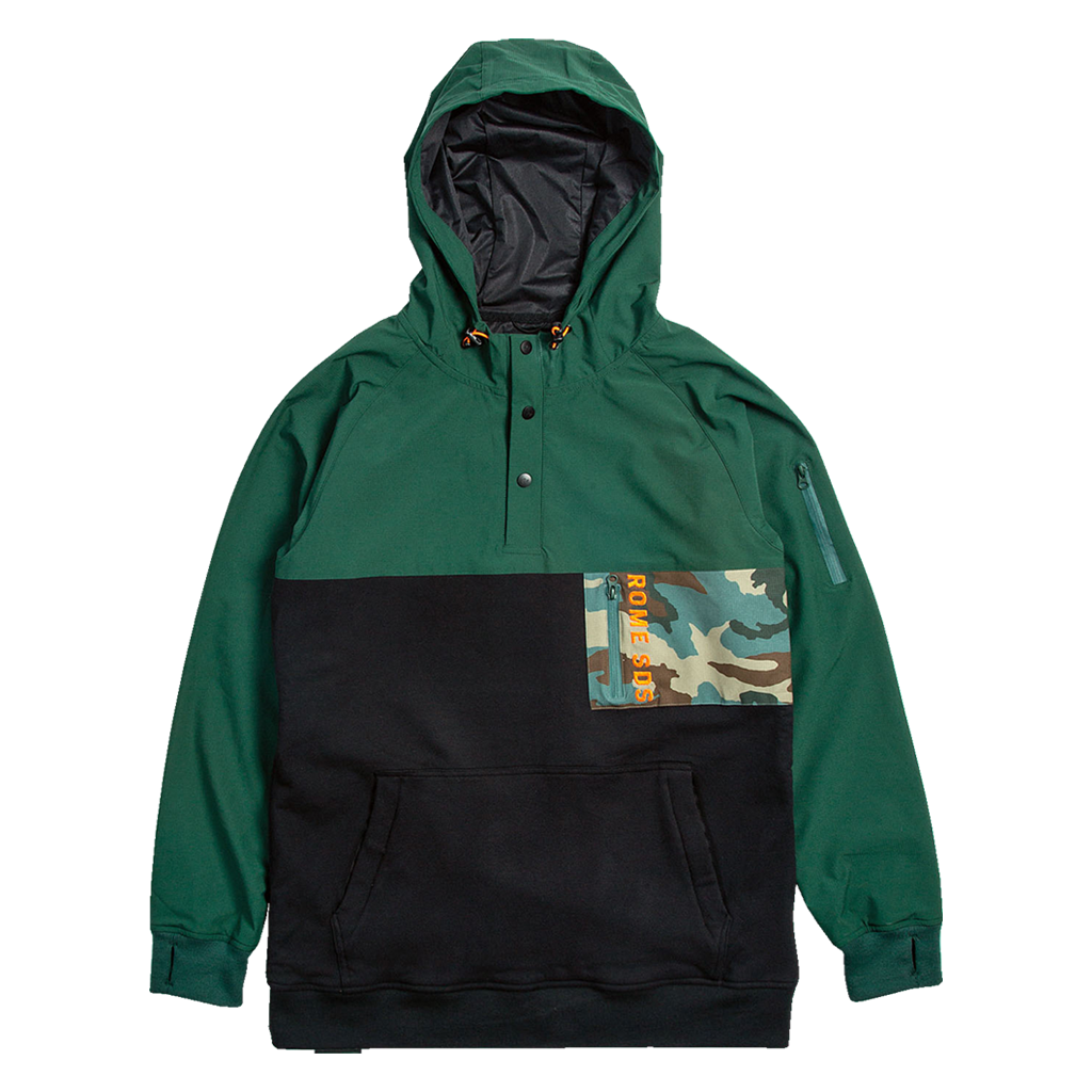 Rome riding hoodie Olive Riding Snap 2020 2021 by rome snowboards