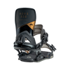 Rome Black Label snowboard bindings back view by rome snowboards