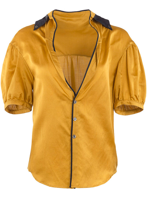 Undercover Silk Buttoned Blouse - case-study