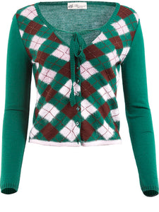 Blumarine Plaid Cardigan - case-study
