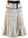 t a o Silver and Gold Belted Skirt - case-study