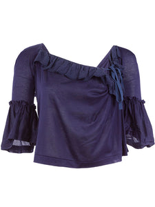 tao Ruffle Sleeve Cropped Top - case-study